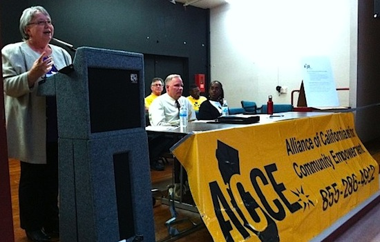 Richmond mayor at ACCE meeting