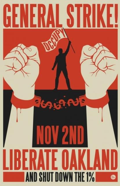Oakland strike poster