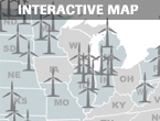 Map: Foreign manufacturers dominate new wind projects